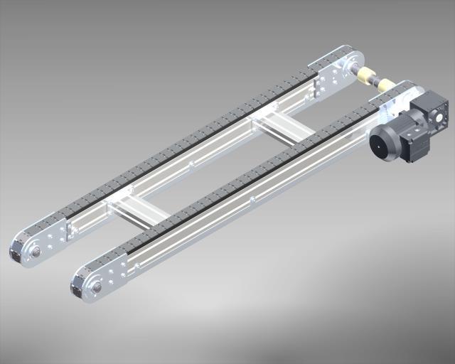 Stahlscharnierkettenförderer Aluminium Chassis