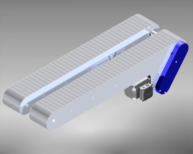 Stahlscharnierkettenförderer Stahl Chassis